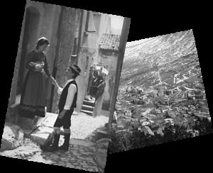 Costumi tipici e panorama di Pietraroja